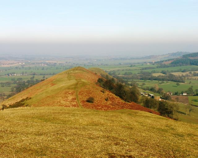 The Lawley one of the Shropshire Hills seen in the Church Stretton area.