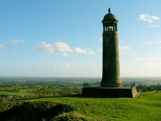 Crich Stand, or Tower is the Sherwood Forester Memorial Tower, in Crich, Derbyshire.