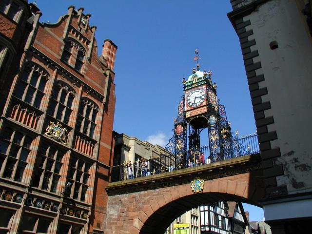 Chester - Clock on the town walls