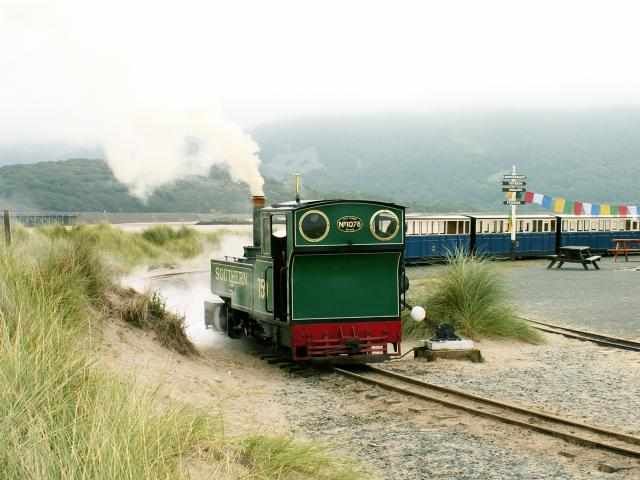 The steam railway at Fairbourne