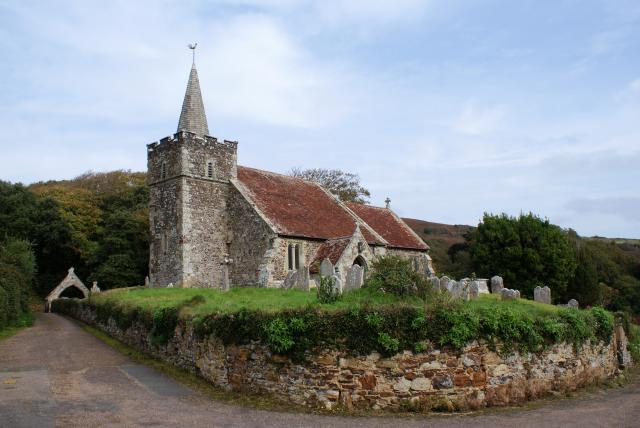 The Church of St Peter & St Paul, Mottistone, Brighstone on the Isle of Wight is a Grade I listed building with some fragmentary remains dating back to an original 12th century building. Other key features date back to the 15th century.