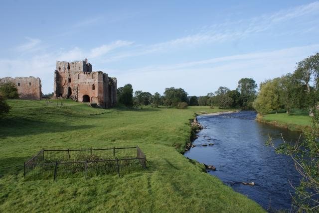 Brougham Castle sits by a crossing of the River Eamon in Cumbria.  The castle was founded in the 13th century and the Great Keep largely survives amongst other later buildings.