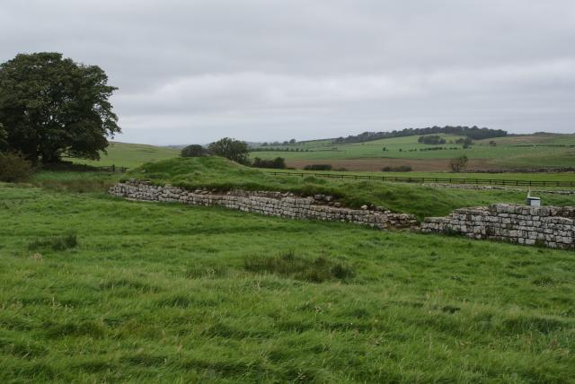 Birdoswald Roman Fort was one of sixteen forts on Hadrian's Wall.  High above the River Irthing it occupies a magnificent position.  It housed up to 1000 men and was in active Roman use for 300 years from the second to the fifth centuries.