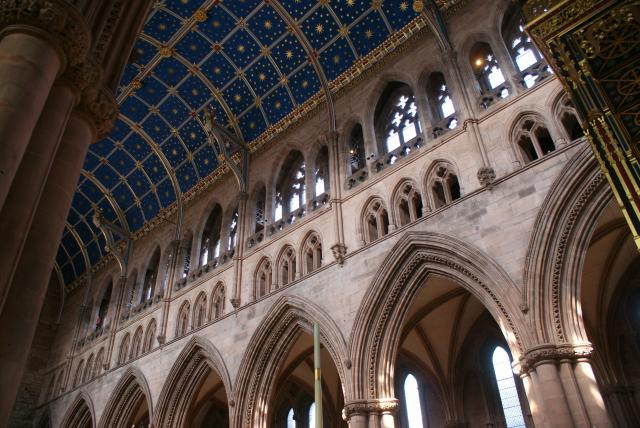 Carlisle Cathedral started life as a Norman Priory Church in 1122 and became a cathedral in 1133 as a symbol of the authority of Henry I.  It has had a turbulent history, and a major restoration in the 19th century.