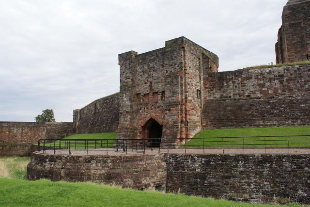 Carlisle Castle, built on a site occupied by a Roman Fort until the 4th century was begun in 1092. It has seen many changes and was still in practical army use into the 20th century.