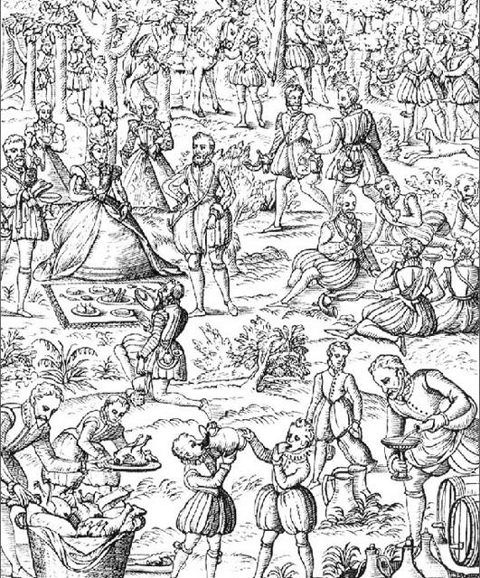 A fair during the Elizabethan Times