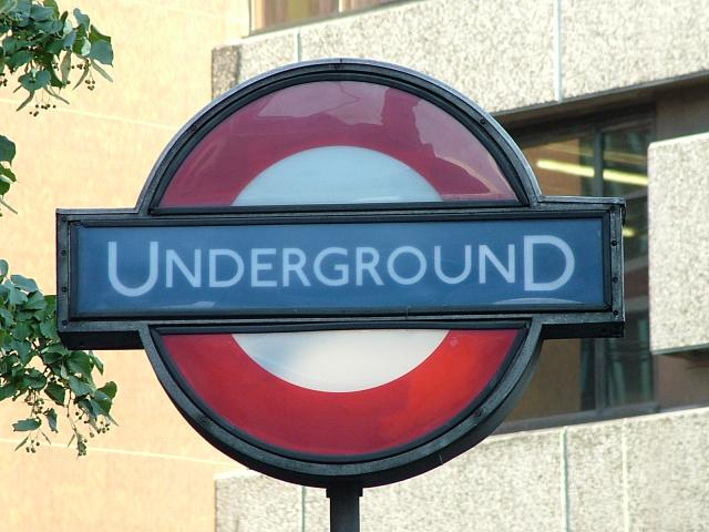 The world-famous logo of London Underground - The London Underground sign