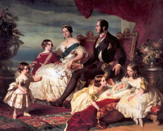 pictures of queen victoria and her family. Queen Victorian and her Family - Queen Victoria Family 1846 painted by Franz