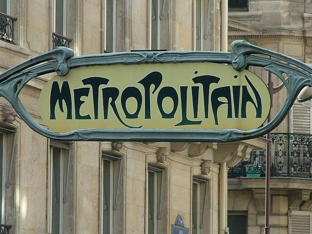 Metro sign in Paris -