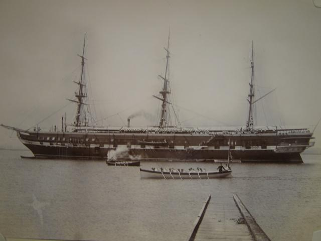 The Shaftesbury training ship, Grays Essex. One of many training ships moored at Grays from the 1860's to 1939.